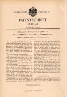 Original Patentschrift - C. Musterer In Greiz I.V., 1898 , Spanner Für Webschütze , Weberei , Webstuhl !!! - Historische Dokumente