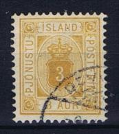 Iceland 1876 Dienst  , Mi 3 A  Used - Dienstzegels
