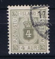 Iceland 1900 Dienst  , Mi 9  Used - Dienstzegels