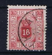 Iceland 1900 Dienst  , Mi 6 A Used - Dienstzegels