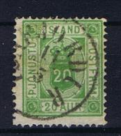 Iceland 1876 Dienst  , Mi 7 A  Used - Dienstzegels