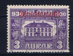 Iceland 1930 Dienst  , Mi 44   Used - Dienstzegels