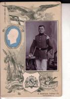 Photo Foto Soldat Allemand Prussien Vers 1900 Souvenir De Son Service Militaire Format Cabinet Kabinett - Militaria