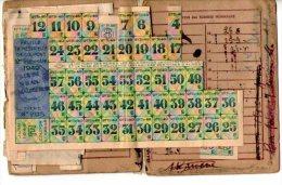 CARTE INDIVIDUELLE D'ALIMENTATION+ FEUILLE DE COUPONS -1946 - Vecchi Documenti