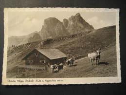 Pfronten Allgau Hochalp Hutte Aggenstein Augsburg 1952 Germany Stamp On Post Card Mountain Mountains - Pfronten