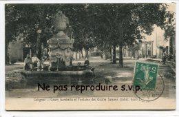 - Cotignac - Cour Gambetta Et Fontaine Des Quatre Saisons, Arrosoirs, Seaux, En 1911, TBE, Scans. - Cotignac