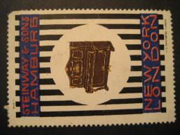 Hamburg Steinway & Sons New York London USA YK GB Piano Germany Music Poster Stamp Label Vignette Viñeta Cind - Music