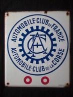Plaque émaillée Automobile Club France/Corse - Non Classés