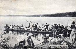 Schweden, KYRKBÄT I RÄTTVIK, Ruderboot, Karte Gelaufen Um 1916?, 5 Öre Frankierung, Sehr Gute Erhaltung - Schweden