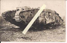 Flandres Flandern Tank Anglais  Carte Photo Allemande  WWI Ww1 14-18 1.wk 1914-1918 Poilus - Guerre, Militaire