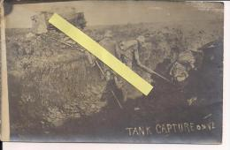 Arras Cambrai Flandres Flandern  Tank Anglais  Carte Photo Us WWI Ww1 14-18 1.wk 1914-1918 Poilus - War, Military