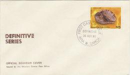 Samoa 1980 Definitive $ 5.00 Common Harp FDC - Samoa