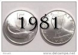 """!!! LIRE 5 1981 FDC """" DELFINO """" ITALIA !!! - 1946-… : República"""