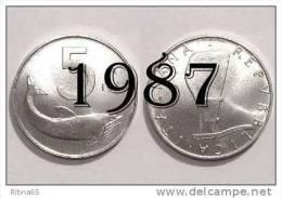 """!!! LIRE 5 1987 FDC """" DELFINO """" ITALIA !!! - 1946-… : República"""