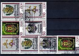 Historische Posthausschilder 1990 DDR 3306/9,4-Block+KB SST 53€ Kaiserliche Postagentur S/s M/s Sheetlet Bf Germany - DDR