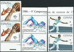 Spagna 1986 Nuovo** - Mi.2732;2738;2740  3coppie - 1931-Oggi: 2. Rep. - ... Juan Carlos I