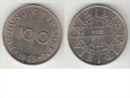 Saarland 100 Franken 1955  Km 4  Unc !!!!! - Sarre