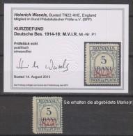 Militärverwaltung In Rumänien,Portomarken 1,xx,Befund BPP (3640) - Besetzungen 1914-18