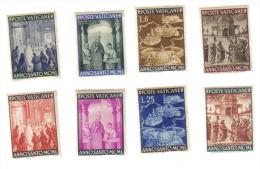 CITTA' DEL VATICANO 1949 Anno Santo 1950 NUOVI ** In Serie Gomma Con Ingiallimenti COD.FRA.389 - Unused Stamps