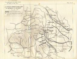 MILITARIA -  GRANDE GUERRA - Carta Geografica Militare - RITIRATA ROMENO-RUSSA DOPO LA BATTAGLIA DI BUCAREST - Documenti