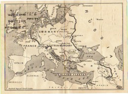 MILITARIA -  GRANDE GUERRA - Carta Geografica Militare : LO SCHIERAMENTO DELLE FLOTTE NAVALI IN EUROPA - Documenti