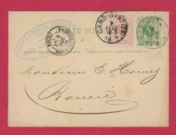 BELGIQUE //  ENTIER POSTAL  //  DE GAND //  POUR ROUEN  //  9 DEC 1882 - Postcards [1871-09]