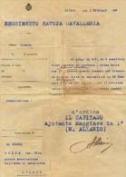 MILITARIA -  REGGIMENTO SAVOIA CAVALLERIA - AL CAV.ETTORE BURNE LETTERA CON FIRMA AUTOGRAFA  DEL CAPITANO M.ALLARIO - - Documenti