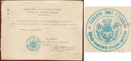 MILITARIA -  COLONIE ITALIANE COMANDI DI CIRENE - UFFICIO POLITICO -  PERMESSO INVIO FUCILE DAMASCATO IN ARGENTO.... - Documenti