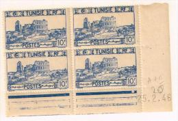 Tunisia 1946, Coin Daté - Unused Stamps
