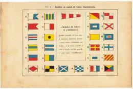 MILITARIA -  BANDIERE DA SEGNALI DEL CODICE INTERNAZIONALE - Documenti