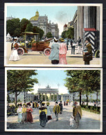 4 Cartes Postales Colorisées Vues De Berlin    Ballon - Non Classés