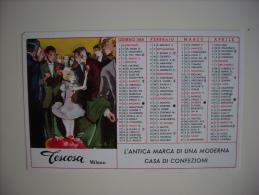 Calendarietto/calendario 1958 TESCOSA Confezioni E Creazioni Per Signora. Milano.Illustratore Franz Marangolo - Calendari