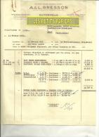 52 - Haute-marne - GUYONVELLE - Facture BRESSON - Scierie – 1955 - 1950 - ...