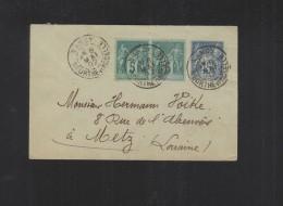 France Entier 1892 Nancy - Ganzsachen