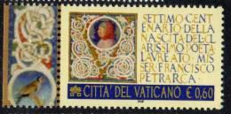 PIA  -  VATICANO - 2004 : 700° Nascita Di Francesco Petrarca   (SAS 1371) - Vaticano (Ciudad Del)