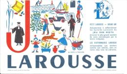 """Buvard - JEU De MOTS """"LAROUSSE"""" Lettre J. (24 Mots à Trouver) - Blotters"""