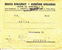 POLAND 1927 Cover (printed Matter Rate) - 1919-1939 Republik