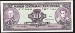 VENEZUELA P61d 10 BOLIVARES  1995  UNC. - Venezuela