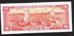 PERU  P112   10   SOLES DE ORO    17.11.1976    UNC. - Perù
