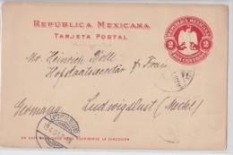 MEXICO - MEXIQUE - Entier 1901 Pour Ludwigslust - Postal Stationery - Mexico