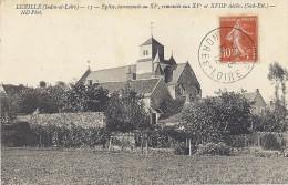 Cp 37 Indre Et Loire LUZILLE Eglise Commencée Au XI ( Habitation , Ferme Pré ) - France