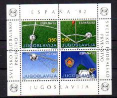 Yougoslavie 1982, Coupe Du Monde Football « Espana'82 », Lot De 10 Blocs ** - 1982 – Espagne