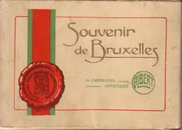 BELGIQUE - SOUVENIR DE BRUXELLES - POCHETTE DE 24 CARTES VUES - éditeur ALBERT - Bruxelles-ville