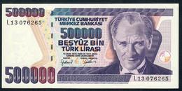 TURKEY   P212  500.000 LIRA   L.1970   1998    UNC. - Turquie