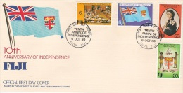 Fiji 1980 10th Anniversary Of Independence FDC - Fiji (1970-...)