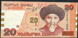 KYRGYSTAN  P19   20 SOM    2002    UNC. - Kirghizistan