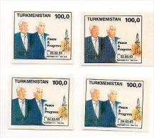 Turkmenistan - 1993  President Clinton And Nijasow Imperforate  -Turkmenistan 1993 Presidenti Clinton And Nijasow - Turkmenistan
