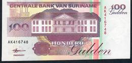 SURINAM P139b 100 GULDEN 1998 Prefix AK      UNC. - Surinam