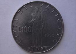 RARA !!! 100 LIRE 1955 VATICANO !!! - Vaticano (Ciudad Del)