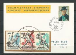 Belgique:  E98 Sur Carte - Commemorative Labels